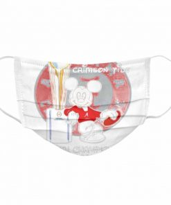Alabama Crimson Tide Mickey Mouse NCAA national championship 2021  Cloth Face Mask