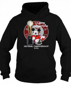 Alabama Crimson Tide Mickey Mouse NCAA national championship 2021  Unisex Hoodie