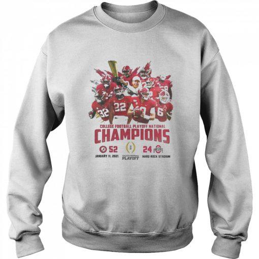 Alabama crimson college football playoff national champions 2021  Unisex Sweatshirt