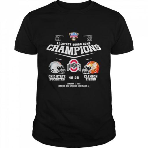 Allstate sugar bowl champions ohio state buckeyes 49 28 clemson tigers  Classic Men's T-shirt