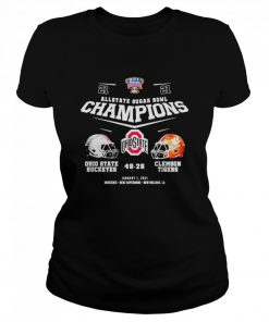 Allstate sugar bowl champions ohio state buckeyes 49 28 clemson tigers  Classic Women's T-shirt