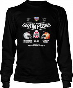 Allstate sugar bowl champions ohio state buckeyes 49 28 clemson tigers  Long Sleeved T-shirt