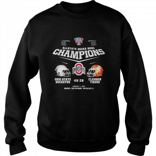 Allstate sugar bowl champions ohio state buckeyes 49 28 clemson tigers  Unisex Sweatshirt