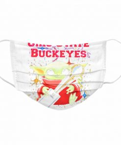 Baby yoda hug ohio state buckeyes 2021  Cloth Face Mask