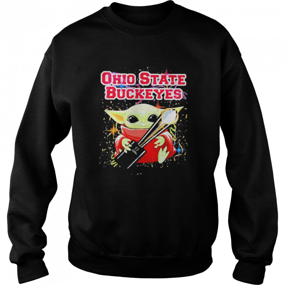 Baby yoda hug ohio state buckeyes 2021  Unisex Sweatshirt
