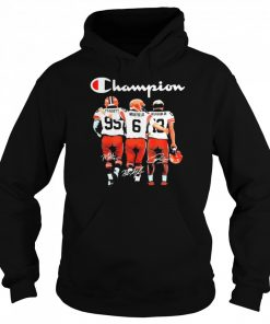Cleveland browns champion garrett and mayfield and beckham jr  Unisex Hoodie