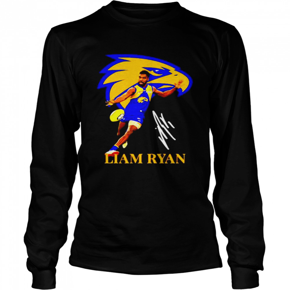 Liam ryan player of team philadelphia eagles football signature Long Sleeved T-shirt