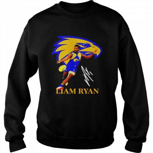 Liam ryan player of team philadelphia eagles football signature  Unisex Sweatshirt
