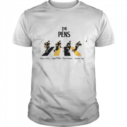 The Pittsburgh Penguins Sidney Crosby Evgeni Malkin Abbey Road  Classic Men's T-shirt