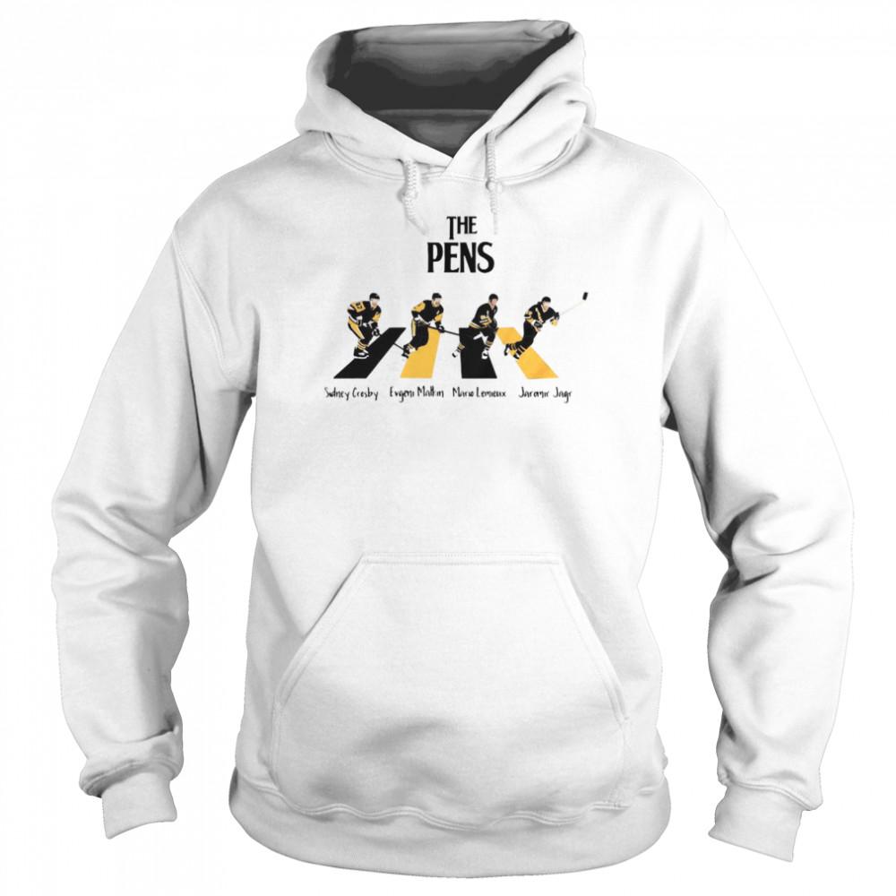 The Pittsburgh Penguins Sidney Crosby Evgeni Malkin Abbey Road  Unisex Hoodie