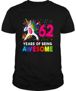 62nd Birthday Dabbing Unicorn Party 62 Years Old shirt