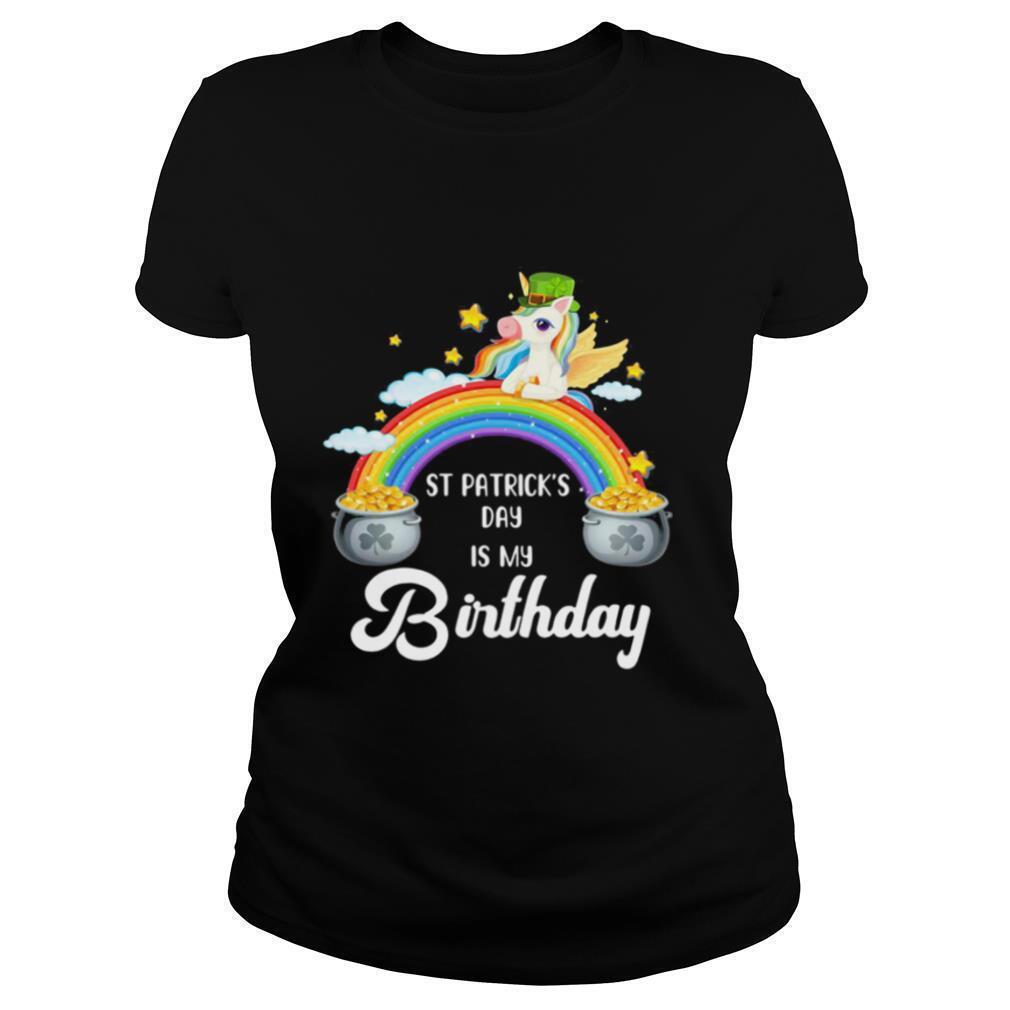 Birthday St Patricks Day Unicorn With Rainbow Shirt