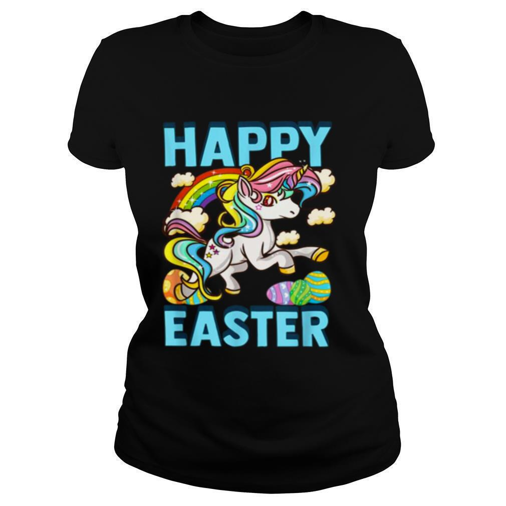 Happy Easter Unicorn Egg Hunt Bunny Tee Shirt