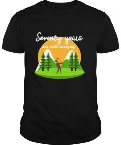 Seventy Years And Still Swinging 70Th Birthday Golf Shirt