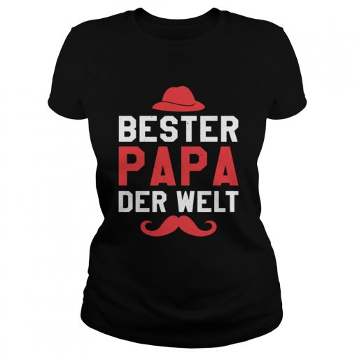 Bester Papa der Welt Vater Vatertag Langarm Shirt Classic Ladies