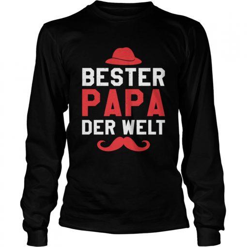 Bester Papa der Welt Vater Vatertag Langarm Shirt Long Sleeve