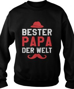 Bester Papa der Welt Vater Vatertag Langarm Shirt Sweatshirt
