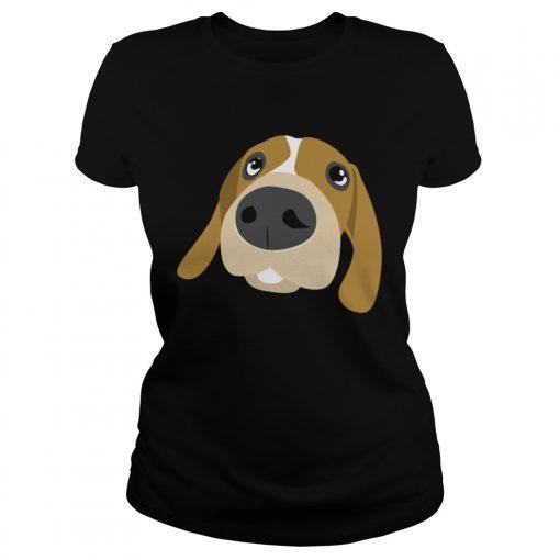 Dog Illustration 4 Shirt Classic Ladies