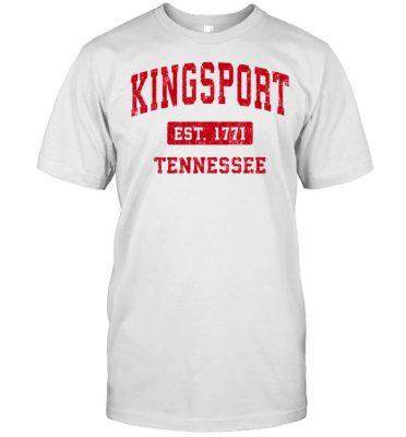 Kingsport Tennessee TN Vintage Sports Design Red Design shirt