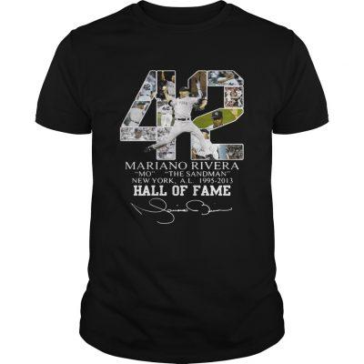 Mariano Rivera New York Yankees Hall of Fame signatures shirt
